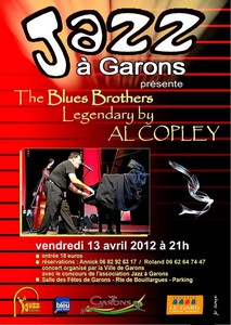 Photo of JAZZ A GARONS PROPOSE THE BLUES BROTHERS LEGENDARY BY AL COPLEY, CE VENDREDI 13 AVRIL 2012