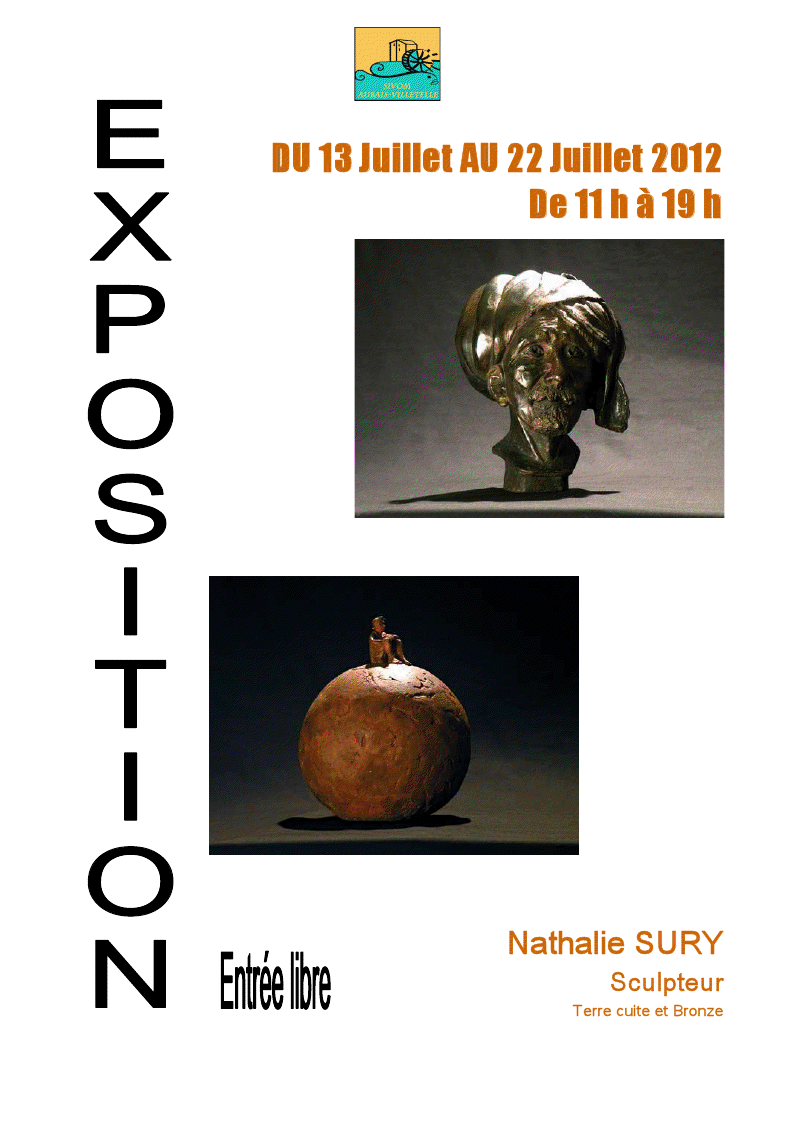 Photo of AUBAIS : Exposition de la sculptrice Nathalie Sury au Moulin de Carrière du 13 au 22 juillet