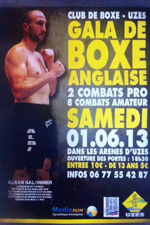 uz s grand gala de boxe anglaise professionnelle ce samedi 1er juin 2013 dans les ar nes jean. Black Bedroom Furniture Sets. Home Design Ideas