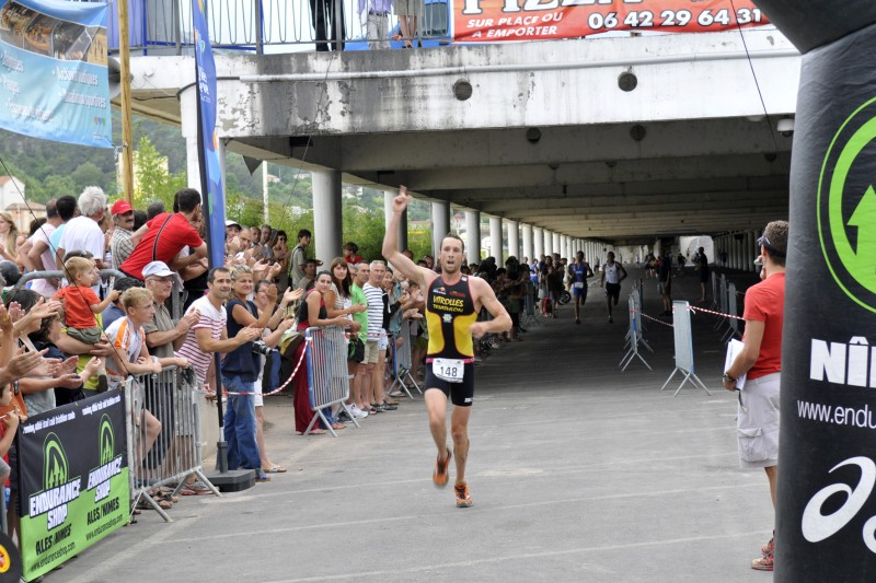 Julien Vlaemynck avait remporté le Triatlhon du Gardon en 2012. Photo DR/