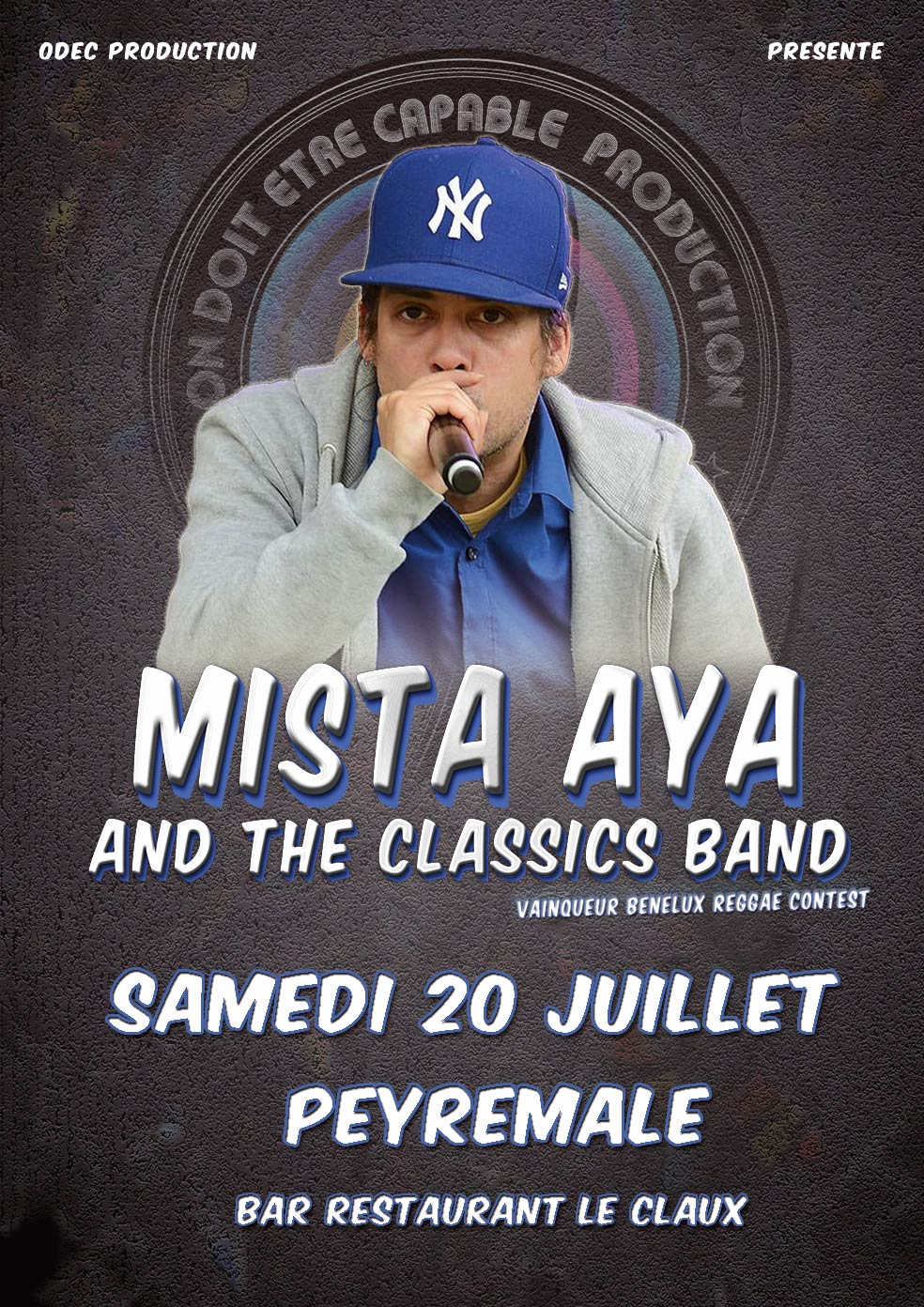 Photo of PEYREMALE Concert gratuit de « Mista AYA and the classics band », ce samedi 20 juillet 2013