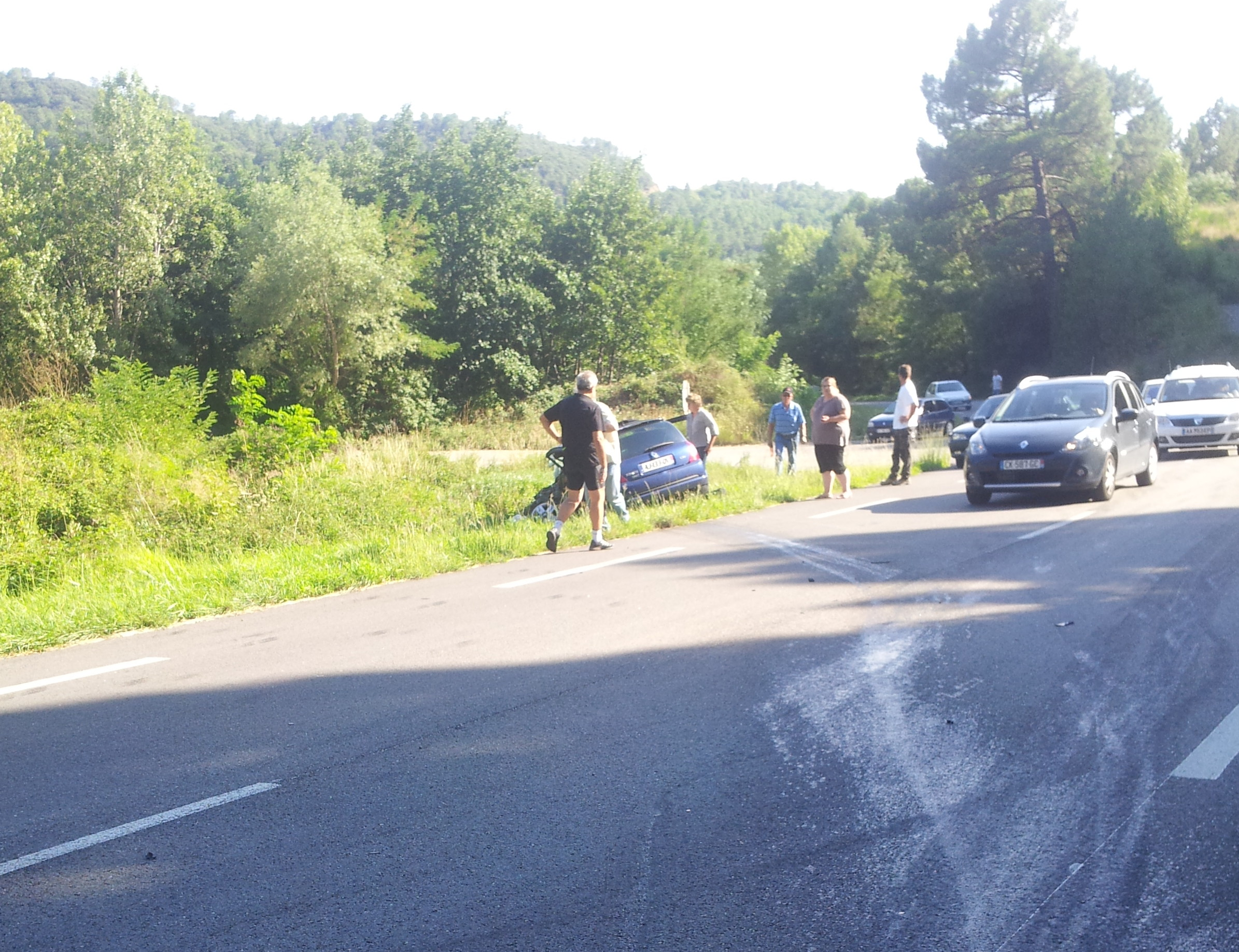 Photo of ACCIDENT : Choc frontal à La Grand Combe entre deux Renault Clio