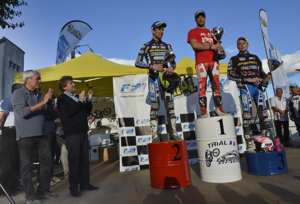 Photo of POMPIGNAN Gubian Loris sacré Champion de France Trial toutes catégories