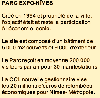 Photo of PARC EXPO NÎMES. La CCI reprend la gestion du site et fixe ses ambitions