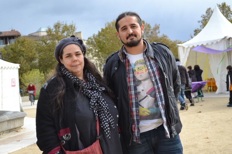 Hassan Bouterfes et Paola Alonso. Photo DR/S.Ma