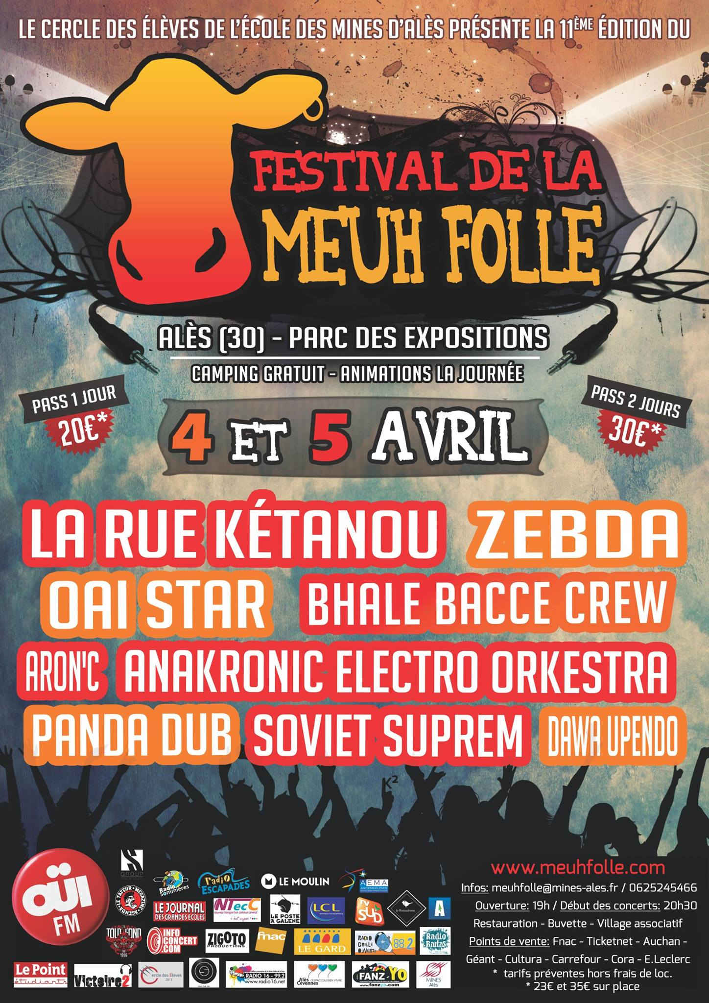 Photo of ALES. La Meuh folle 2014 : le programme!