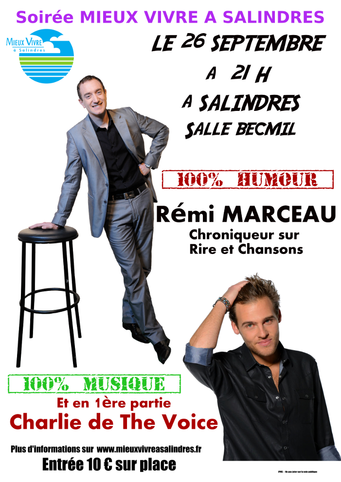 Photo of SALINDRES Rémi Marceau et Charlie en spectacle le 26 septembre