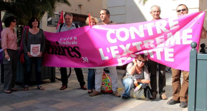 Manifestation de Solidaires 30 contre le Front National. DR
