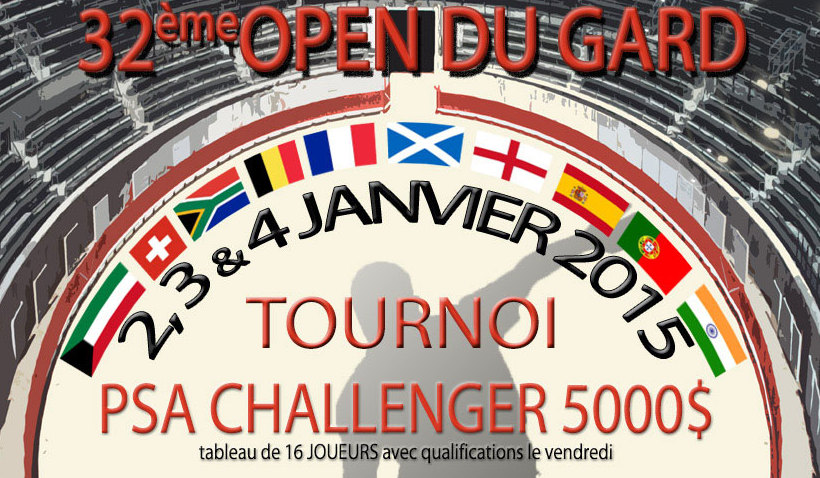 Photo of A VOS AGENDAS Le 32e open du Gard de squash déboule ce week-end à Nîmes