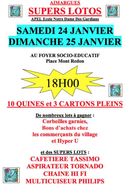 AIMARGUES Deux supers lotos, ce week-end