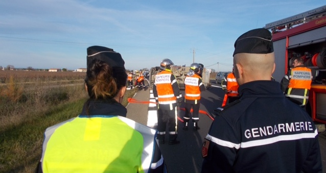 Photo of GARD Accident sur la RN 580 : une blessée et circulation très perturbée