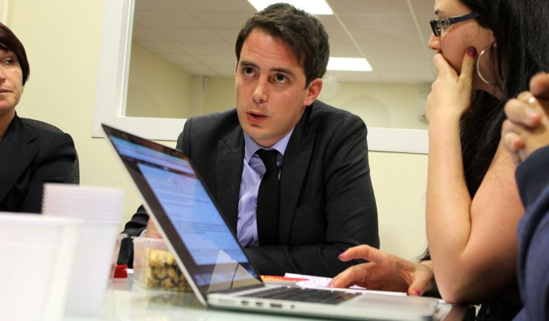 Le chef de file du Front national Yoann Gillet (Photo : Thierry Allard / Objectif Gard)