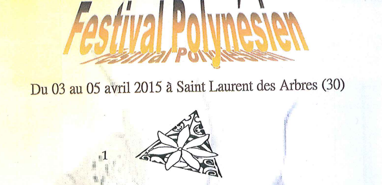 Photo of SAINT-LAURENT-DES-ARBRES Festival Polynésien, ce week-end !