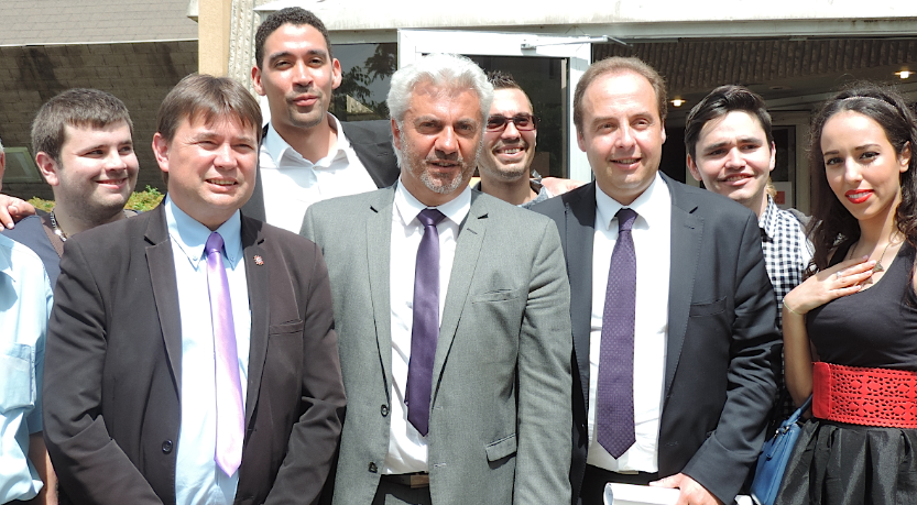 Photo of NÎMES Jean-Christophe Lagarde (UDI) en visite sur fond de régionales