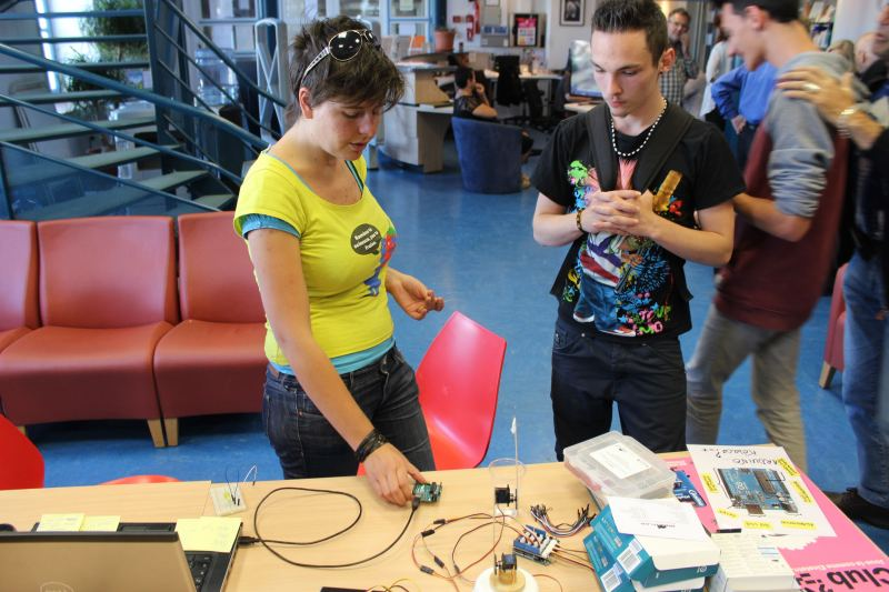 L'atelier robotique (Photo : Thierry Allard / Objectif Gard)