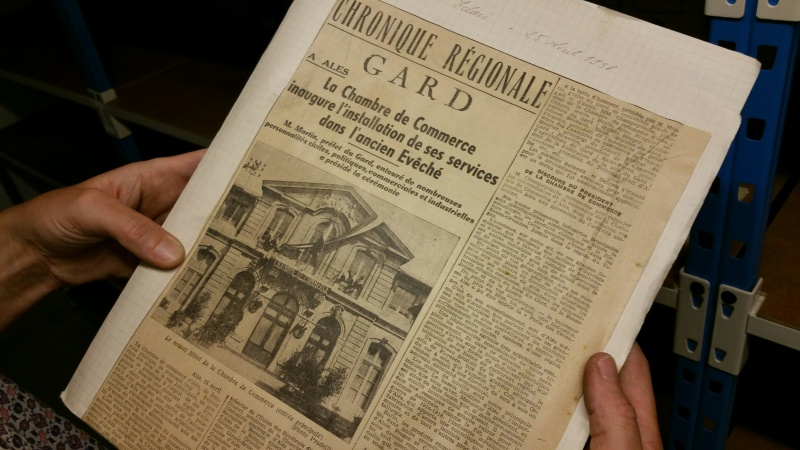 Article du journal l'Éclair, en avril 1938. Photo Élodie Boschet/Objectif Gard