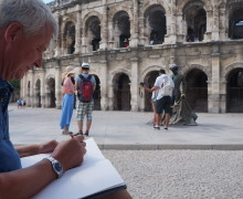 PORTRAIT DE TOURISTE Philip, from Reading to Nîmes