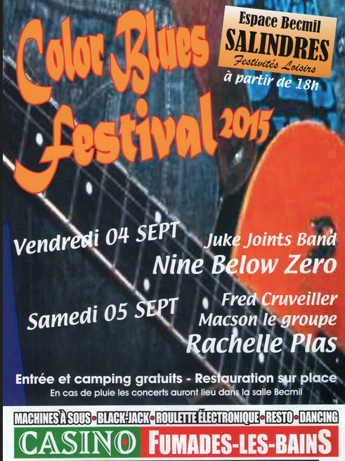 Photo of SALINDRES Color Blues Festival 2015, ce week-end !