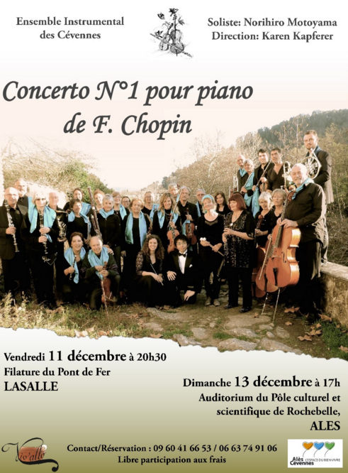 Photo of LASALLE & ALÈS Concerts Chopin et Saint-Saëns, ce week-end !