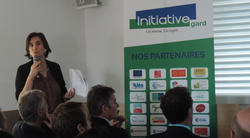 Alice Jolivet, directrice d'Initiative Gard. Photo Élodie Boschet/Objectif Gard