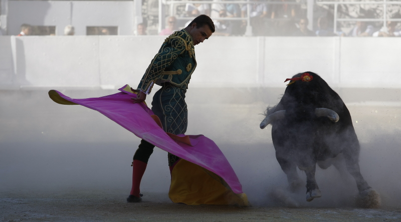 Juan Bautista lors de son solo pour la corrida goyesque de 2014 (Photo Archives Anthony Maurin)