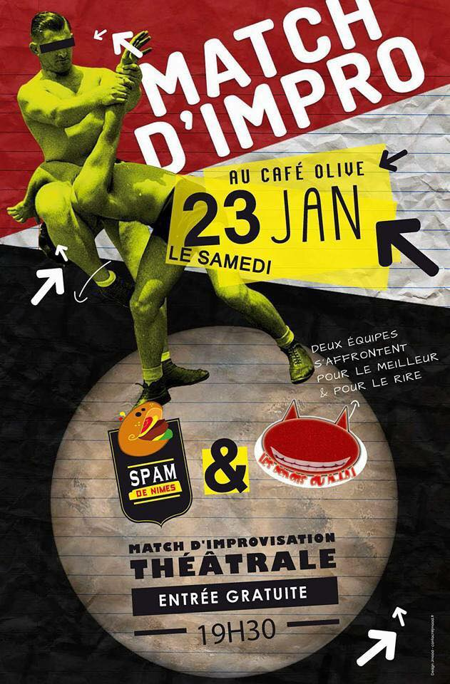 Photo of NÎMES Match d'impro au café olive ce samedi