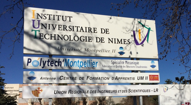 L'Institut Universitaire de Technologie (I.U.T), 8 Rue Jules Raimu, 30900 Nîmes (Photo Anthony Maurin : ObjectifGard)