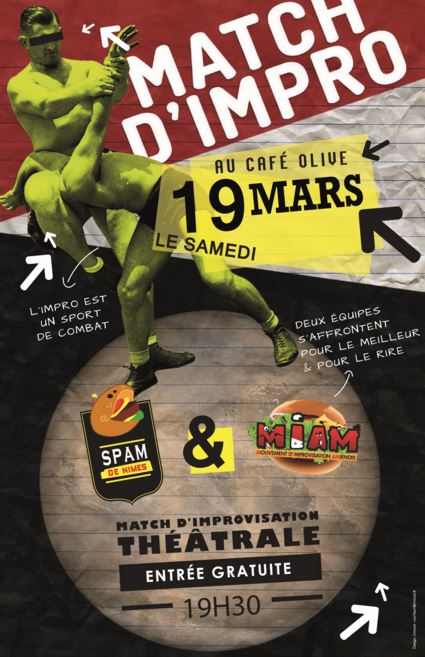 Photo of NÎMES Match d'impro au Café Olive, ce samedi !