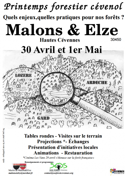MALONS & ELZE Printemps forestier cévenol, ce week-end !