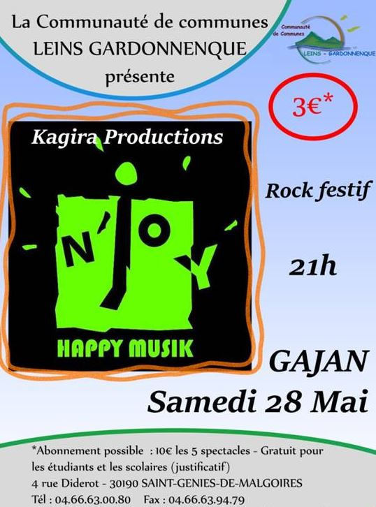 Photo of GAJAN Concert rock festif du groupe N'JOY, ce samedi !