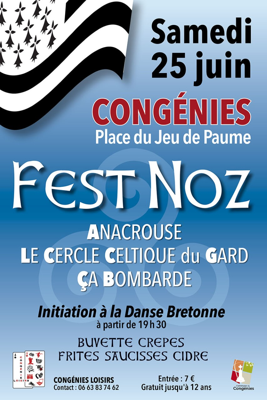 Photo of CONGÉNIES Fest Noz, ce samedi !