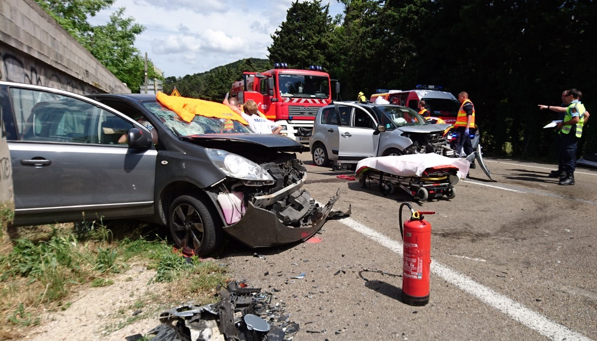 Accident cet après-midi. Photo : Sdis 30