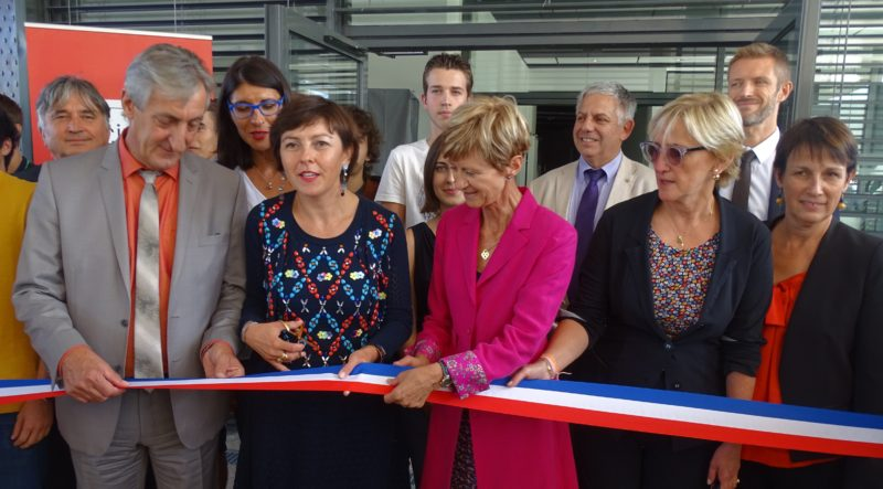 Carole Delga lors de l'inauguration de l'internat. Photo Tony Duret / Objectif Gard
