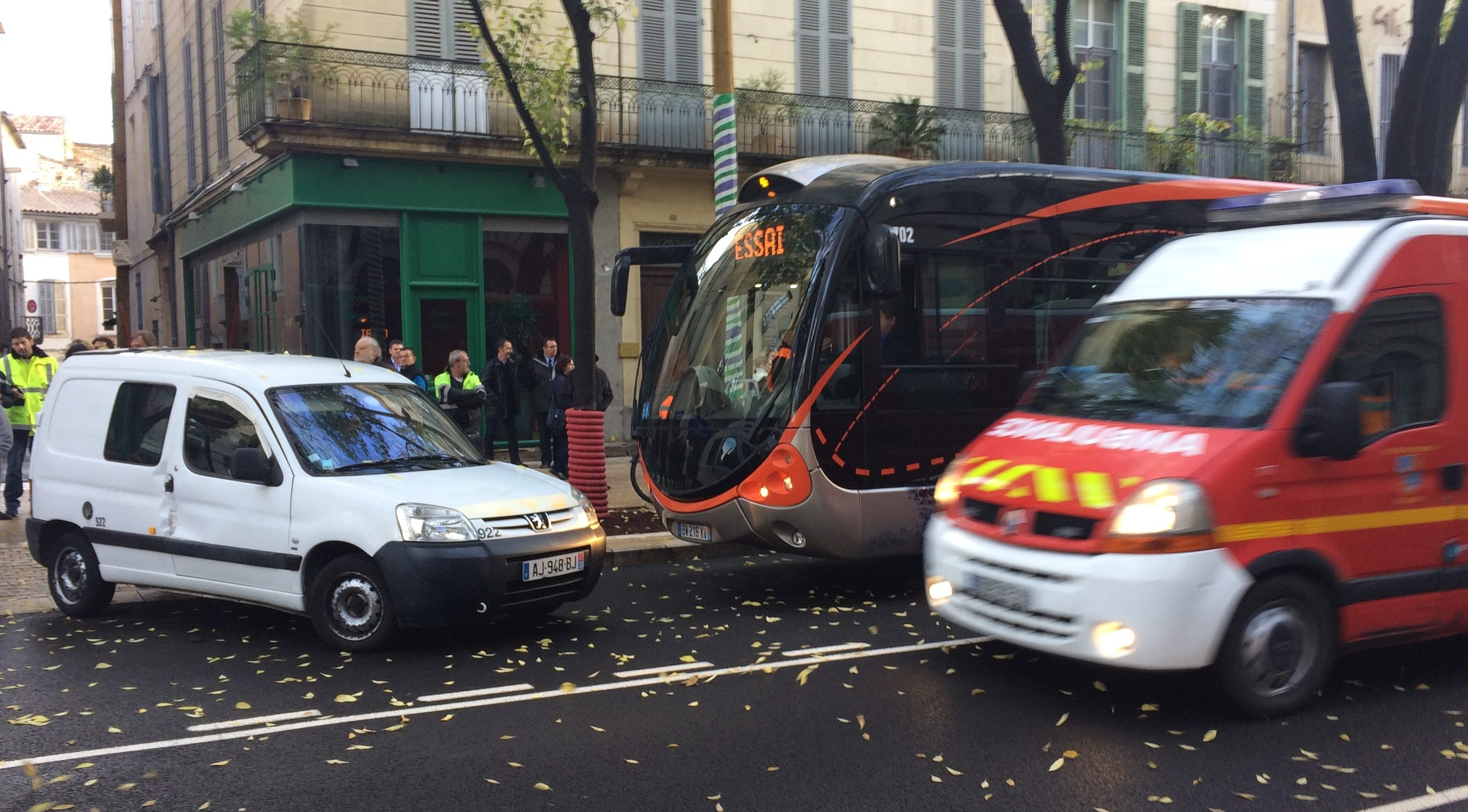 Photo of NÎMES Simulation d'un accident avec le TCSP