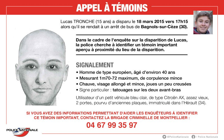 Photo of BAGNOLS Disparition de Lucas : la police lance un appel à témoins