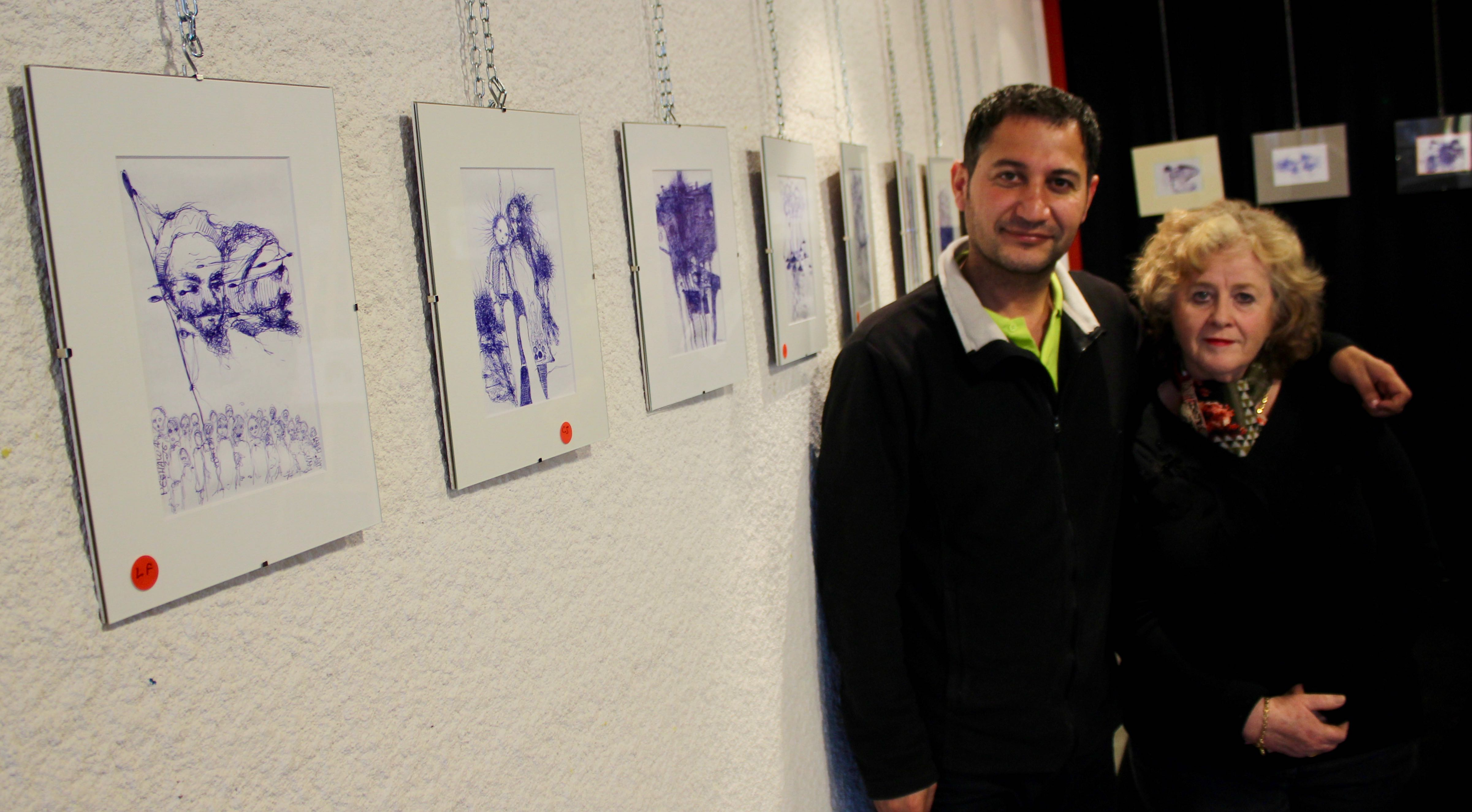Photo of LES ANGLES Les dessins de Peshawa Mahmood, témoignages de son périple de réfugié