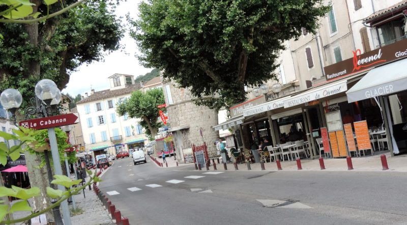 Le centre-ville d'Anduze. Photo Tony Duret / Objectif Gard