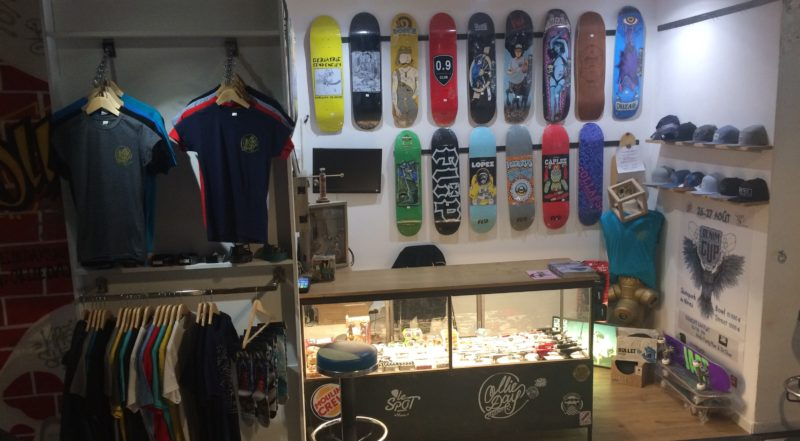 La boutique de skate (Photo Anthony Maurin).