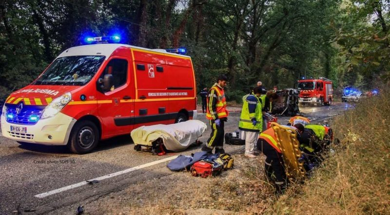 Accident ce matin à Ners. DR SDIS