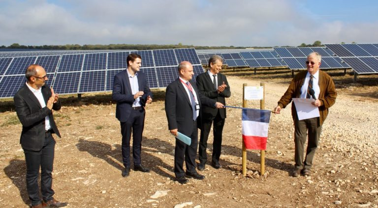 Inauguration centrale photovoltaïque Gard