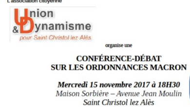 Photo of SAINT-CHRISTOL-LES-ALÈS Les ordonnances Macron font débat