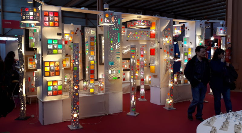 Lilumine et ses luminaires au stand M3 (Photo Anthony Maurin).