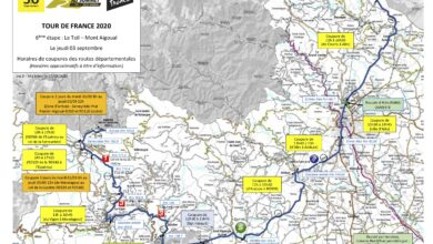 Photo of TOUR DE FRANCE 2020 Tous les horaires de coupures des routes le 3 septembre