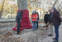 Photo of NÎMES Jean-Paul Fournier en visite sur le chantier de réaménagement du Quai Sud de la Fontaine