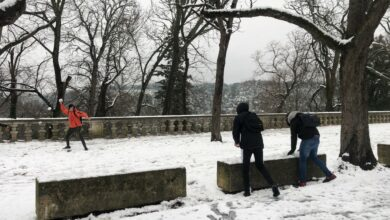 Photo of UZÈS La Ville s'est parée de son manteau blanc hier