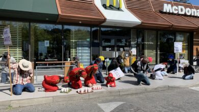 Photo of ALÈS Action « revendicative et festive » menée par les occupants du Cratère au McDo